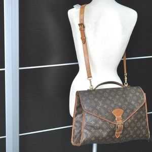 Auth Louis Vuitton Monogram Beverly Shoulder Hand